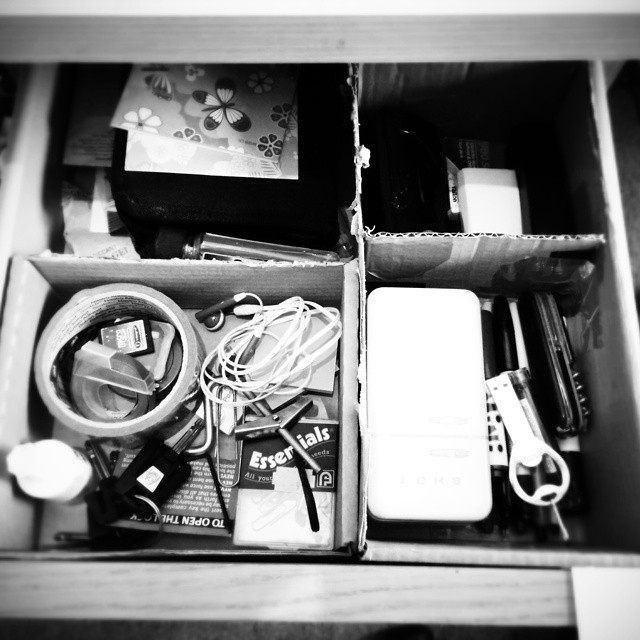 Desk drawer.  Had a bit of a tidy up too. #POTD