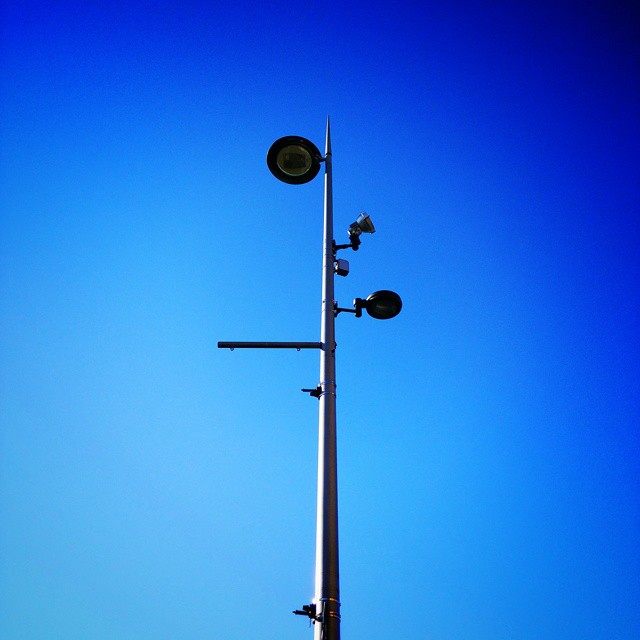 Street lamp,  camera,  ariel thingy #POTD