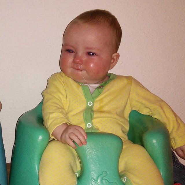 My poor sick baby girl. #SnotFactory #HeartBreaking #NoFilter #POTD