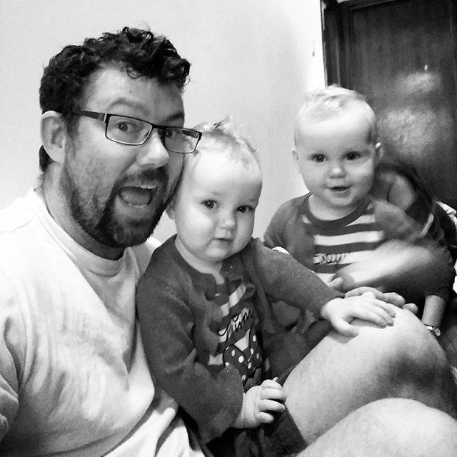 Morning playtime with my #sqidglets. #twinsofinstagram #twins #twinstagram #POTD