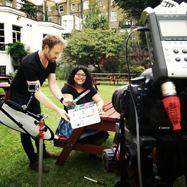 Day 4 shooting for #LeeAbbeyLondon with @mostlytom and the lovely Alvina in the garden. #h4n #Canon #5DmkIII #manfrotto #GoPro #POTD