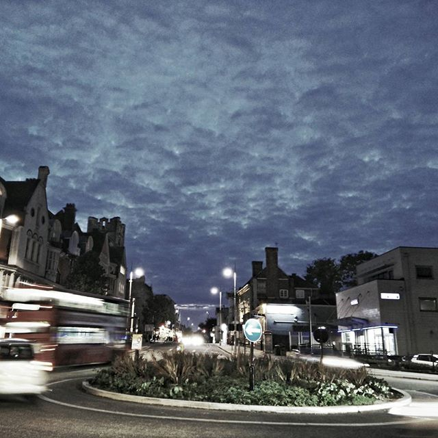 The nights are drawing in. #Autumn #Twighlight #ActonStreets #UxbridgeRoad #Roundabout #POTD