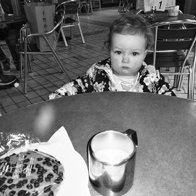 """A"" cannot contain her excitement at the prospect of sitting at the big table. #HappyHappyHappyMeh #mehofinstagram #meh #babygram #mehgram #SeriousFace #POTD"