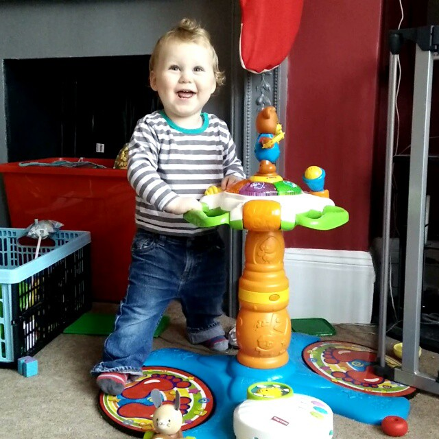 """O"" throwing some shapes and having the time of his life! #LikeABoss #DancingToddler #SwayzeBaby #POTD"