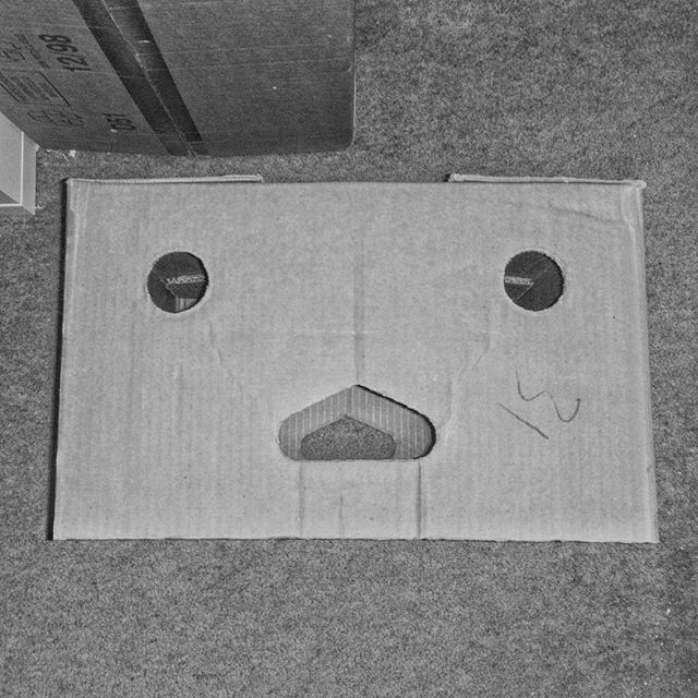 Surprised cardboard box. #Pareidolia #justabox #POTD