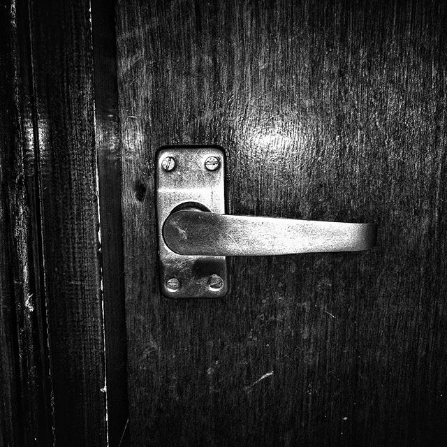 "It's just a door handle. It's the door handle to my office. After @rufus2612 got home work the twins, ""A"" toddled into my office and played her current favourite game of ""closing the door"" despite been told not to. The handle lost it's spring so the door won't catch closed unless you manually raise the handle. As I was watching her, to my utter amazement she pushed the handle up and closed it fully. THEN, she reached up on her tippy-toes, grasped for purchase on the handle until she had enough of a grip and she tugged with all her might... And the door opened.My baby girl just learnt how to open doors for herself and I don't think this will be the last time she opens doors for herself either.It's been a good day. #POTD"