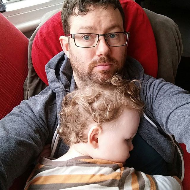 Little man is not a well boy today... #SadDaddy #PoorlyBaby  #MagnificentLittleMan #POTD